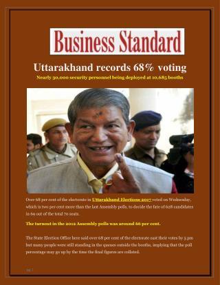 Uttarakhand records 68% voting