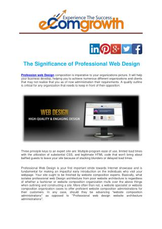 The Significance of Professional Web Design