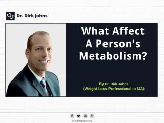 Dr. Dirk Johns presenting factors that Affect a Person's Metabolism