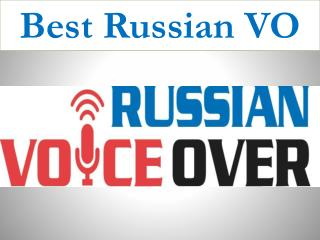 Best Russian VO
