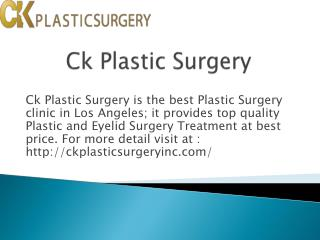 Korean plastic surgery clinic in los angeles