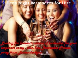 Hens Night Bartenders for Hire - bartender4you.co.uk