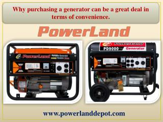 Why purchasing a generator can be a great deal in terms of convenience.