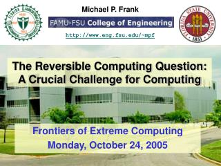 The Reversible Computing Question: A Crucial Challenge for Computing