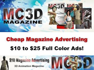 Cheap Magazine Advertising