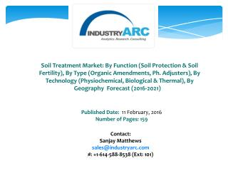 Soil Treatment Market Rapid Industrialization Drives Need for Soil Treatment