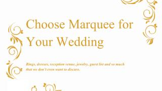 Here's Why You Should Choose Marquee for Your Wedding