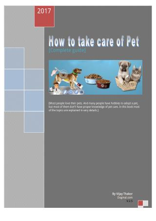 How to take care of pet?