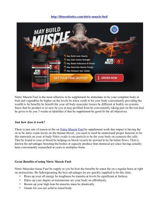 Nitric Muscular Fuel Review- Read Adverse effects, Result!!