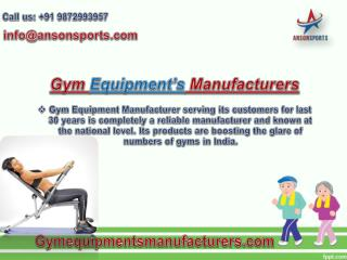 Home Gym Equipments Manufacturer in Delhi