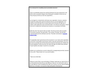 Five crucial parts for compelling resume presentation document.