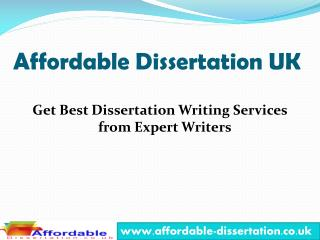 Affordable Dissertation - Your Dissertation Writing Services Provider