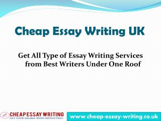 Cheap Essay Writing - Your Essay Writing Services Provider