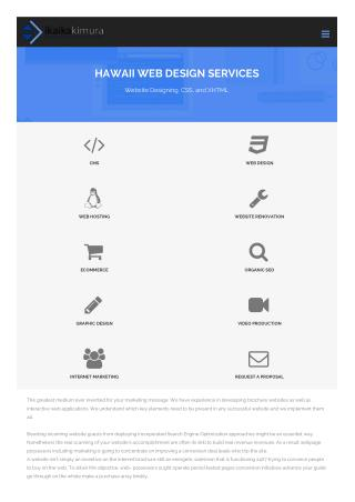 Responsive Web Design Services Hawaii