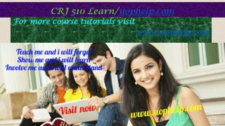 CRJ 510 Learn/uophelp.com
