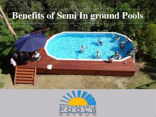 Benefits Of Semi In Ground Pools