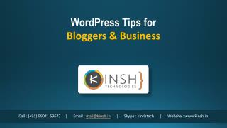 WordPress Tips for Bloggers & Business