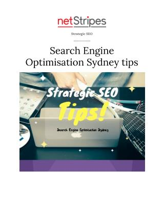 Strategic SEO,Search Engine Optimisation Sydney tips