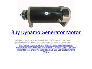 Buy Dynamo Generator Motor