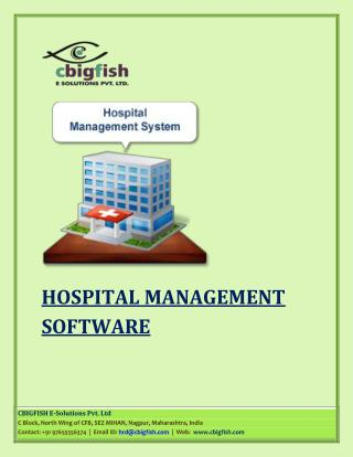 Importance Of Hospital Management Software