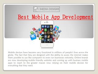 Best Mobile App Development | iMedia Designs