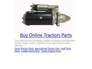 Buy Online Tractors Parts