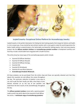 Diffuser pendant necklaces