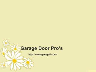 Garage Door Repair - Garage Door Pro's