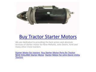 Buy Tractor Starter Motors