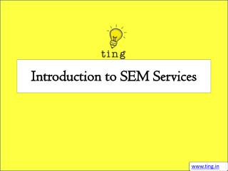 Introduction to SEM Services