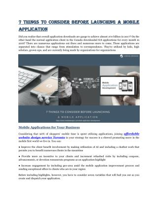 7 Things To Consider Before Launching A Mobile Application