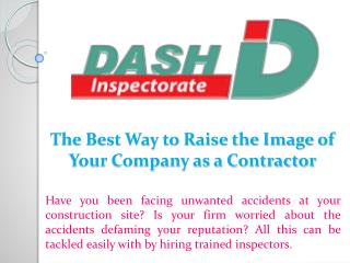 The Best Way to Raise the Image of Your Company as a Contractor