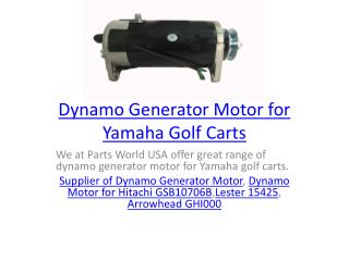 Dynamo Generator Motor for Yamaha Golf Carts
