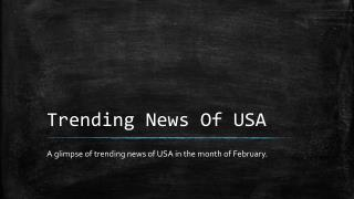 Trending News Of USA