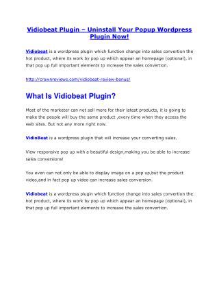 Vidiobeat review & bonuses - cool weapon