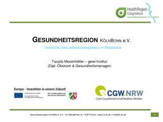 Vernetzte Gesundheitskompetenz im Rheinland
