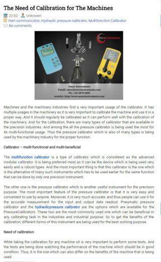 Hydraulicpressure Calibrator