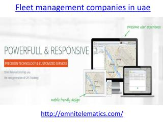 One of the leading fleet management companies in UAE