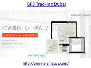 Get the best  GPS tracking in Dubai