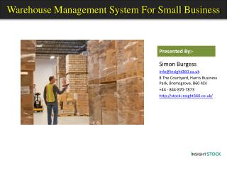 Warehouse Management System for Small Business