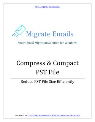 Compress Outlook PST Files