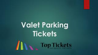 Valet Parking Tickets