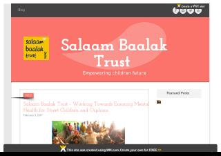 Salaam Baalak Trust - Working Towards Ensuring Mental Health for Street Children and Orphans