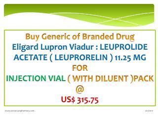 Buy Eligard Lupron Viadur : ( Leuprorelin ) 11.25 Mg @ Us$ 315.75