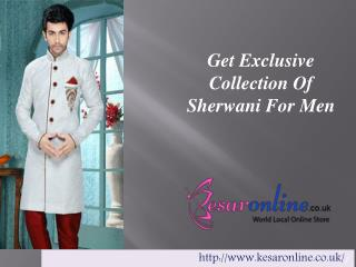 buy Mens Sherwani online UK