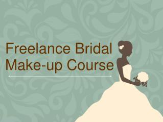 Freelance Bridal Make-up Course