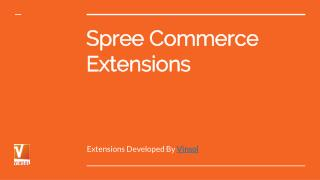 SpreeCommerce Extensions