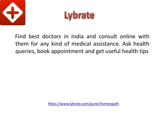 Homeopathic Doctors in Pune - Lybrate