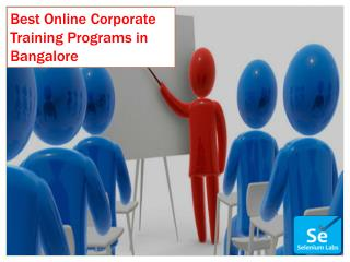 Best Online Corporate Training Programs in Bangalore