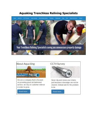 Aquaking Trenchless Relining Specialists